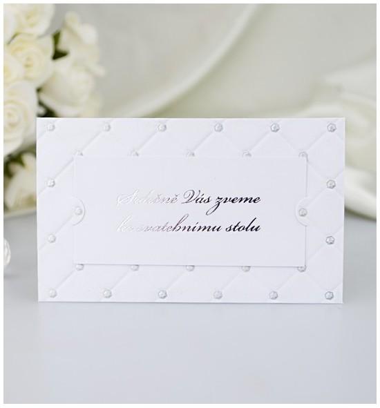Pozvánka ke svatebnímu stolu P2053B
