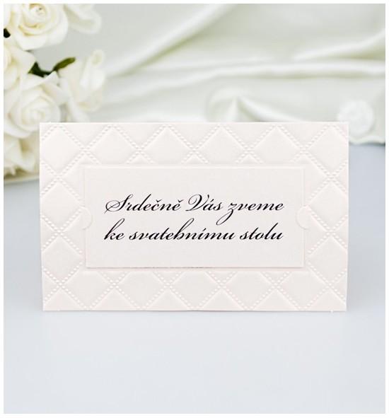 Pozvánka ke svatebnímu stolu P2054A