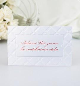 Pozvánka ke svatebnímu stolu P2054B