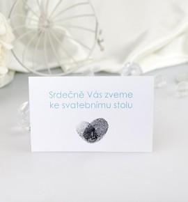 Pozvánka ke svatebnímu stolu P2060C