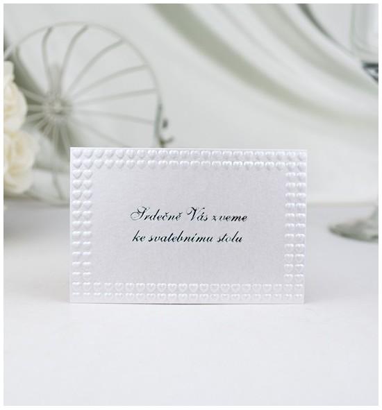 Pozvánka ke svatebnímu stolu P908