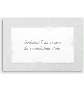 Pozvánka ke svatebnímu stolu P911