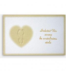 Pozvánka ke svatebnímu stolu P916