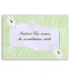 Pozvánka ke svatebnímu stolu P925