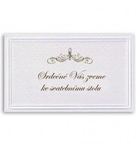 Pozvánka ke svatebnímu stolu P927B