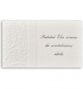 Pozvánka ke svatebnímu stolu P929