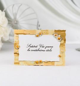 Pozvánka ke svatebnímu stolu P940