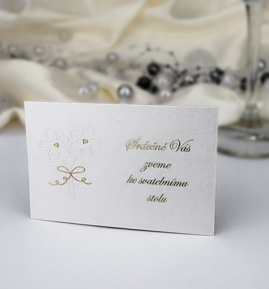 Pozvánka ke svatebnímu stolu P944