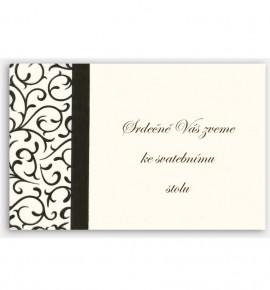Pozvánka ke svatebnímu stolu P950