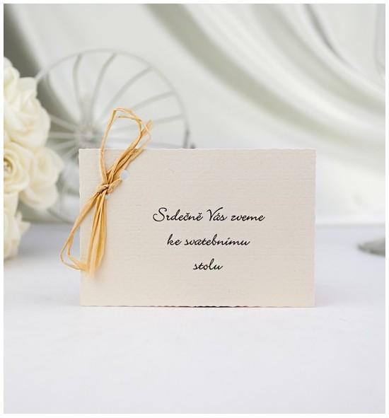 Pozvánka ke svatebnímu stolu P951