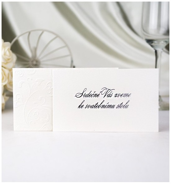 Pozvánka ke svatebnímu stolu P965