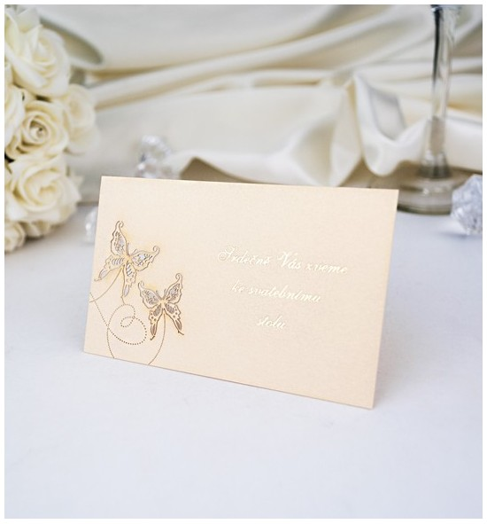 Pozvánka ke svatebnímu stolu P966