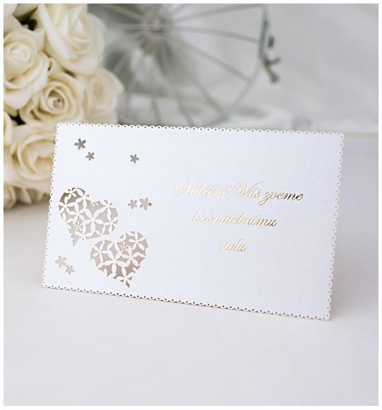 Pozvánka ke svatebnímu stolu P968