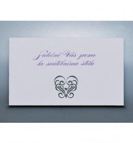 Pozvánka ke svatebnímu stolu P969