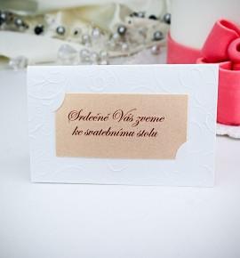 Pozvánka ke svatebnímu stolu P973