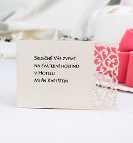 Pozvánka ke svatebnímu stolu P977