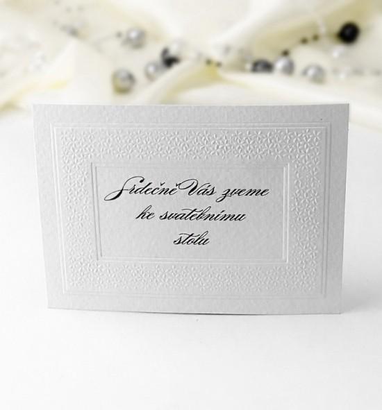 Pozvánka ke svatebnímu stolu P978