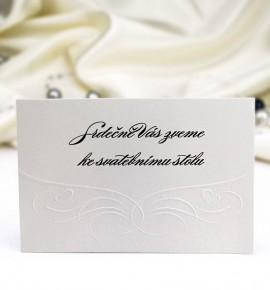 Pozvánka ke svatebnímu stolu P980