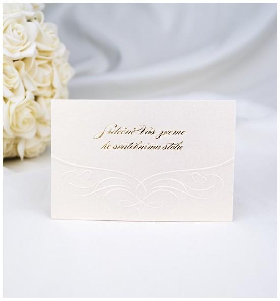 Pozvánka ke svatebnímu stolu P980B