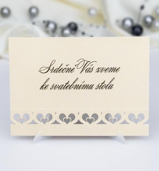 Pozvánka ke svatebnímu stolu P981