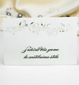 Pozvánka ke svatebnímu stolu P982