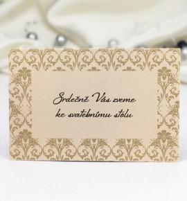 Pozvánka ke svatebnímu stolu P983