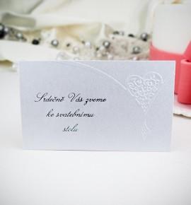 Pozvánka ke svatebnímu stolu P985