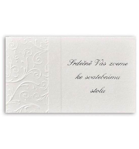 Pozvánka ke svatebnímu stolu P986
