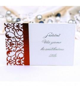 Pozvánka ke svatebnímu stolu P987