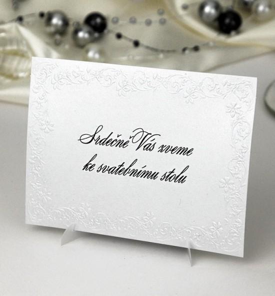 Pozvánka ke svatebnímu stolu P989