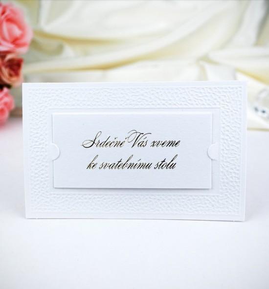 Pozvánka ke svatebnímu stolu P991A