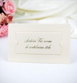 Pozvánka ke svatebnímu stolu P991C