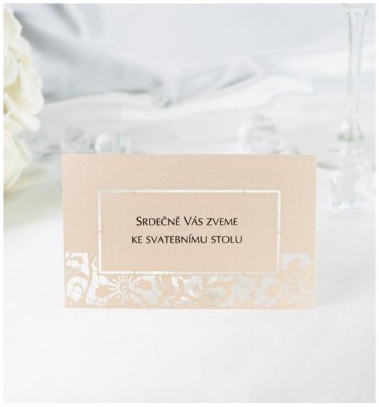 Pozvánka ke svatebnímu stolu PF01