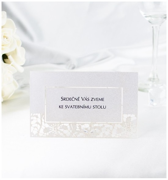 Pozvánka ke svatebnímu stolu PF01B
