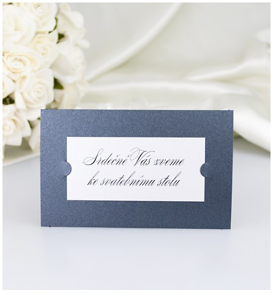 Pozvánka ke svatebnímu stolu PF03