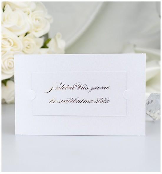 Pozvánka ke svatebnímu stolu PF05