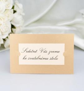 Pozvánka ke svatebnímu stolu PF06