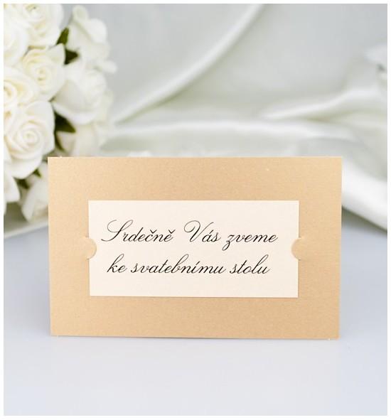 Pozvánka ke svatebnímu stolu P2126
