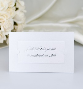 Pozvánka ke svatebnímu stolu PF07