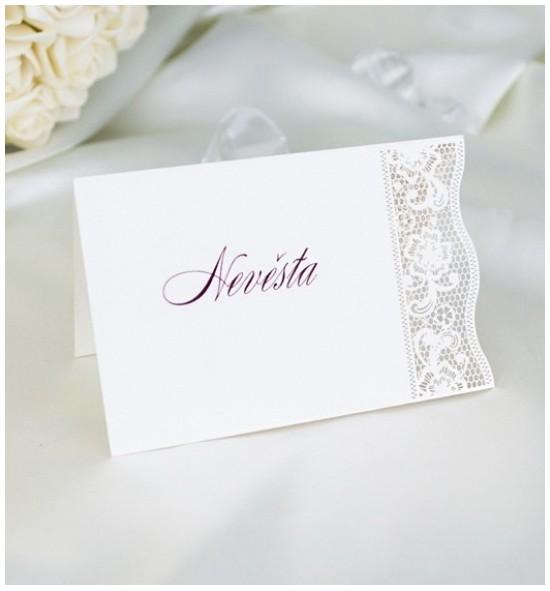 Svatební jmenovka J2049