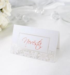 Svatební jmenovka JF01B