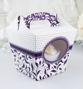 Svatební krabička na cupcake - KC1006