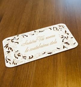 Pozvánka ke svatebnímu stolu P2061