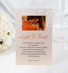 Svatební oznámení s fotografií - GF2121A