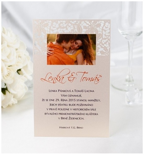 Svatební oznámení s fotografií - GF01