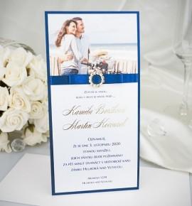 Svatební oznámení s fotografií - GF2122