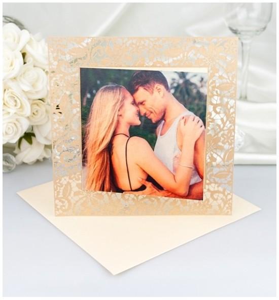 Svatební oznámení s fotografií - GF2124A