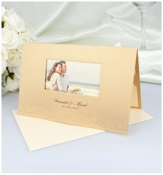 Svatební oznámení s fotografií - GF2126