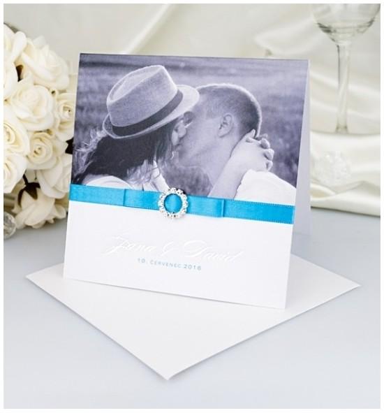 Svatební oznámení s fotografií - GF2127
