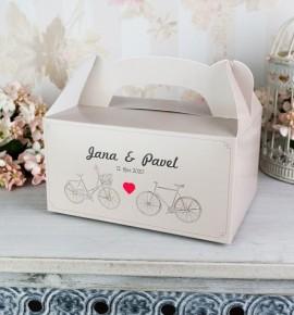 Svatební krabičky s tiskem jmen - K2063